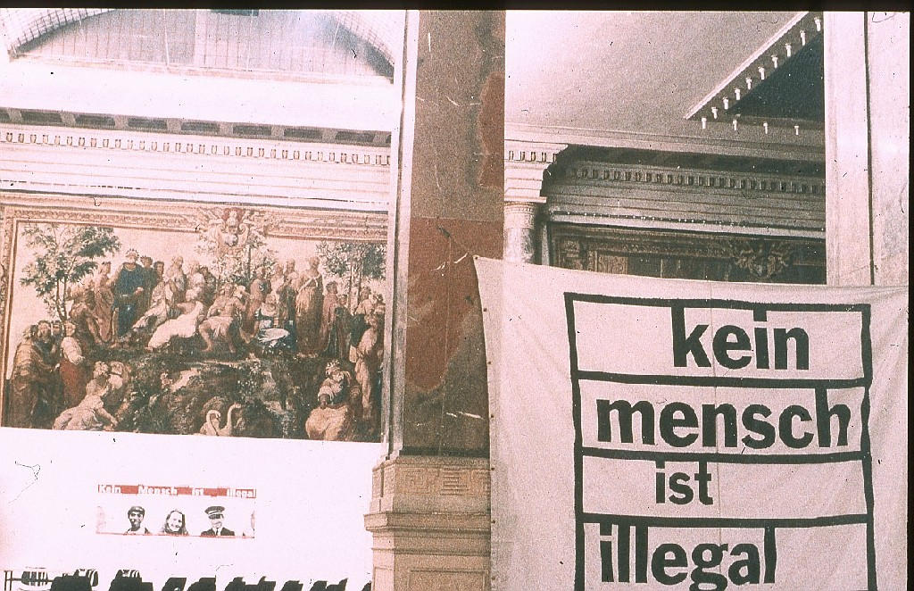 Federal Meeting of No One Is Illegal at Academy of Fine Arts in Munich 1999