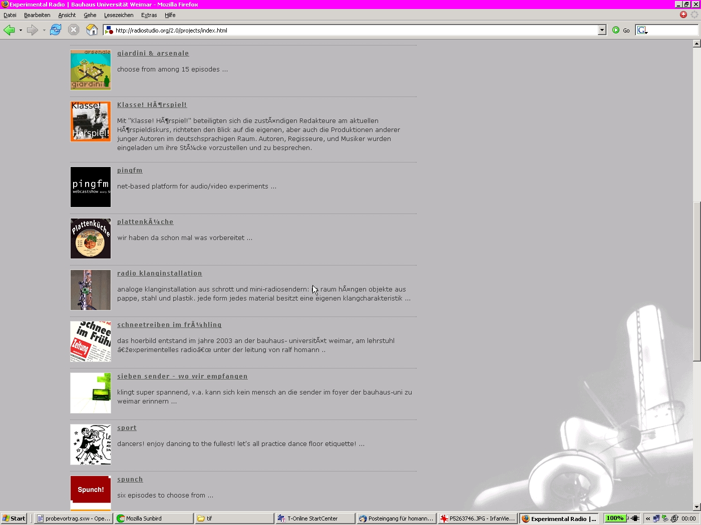 Screenshot radiostudio.org